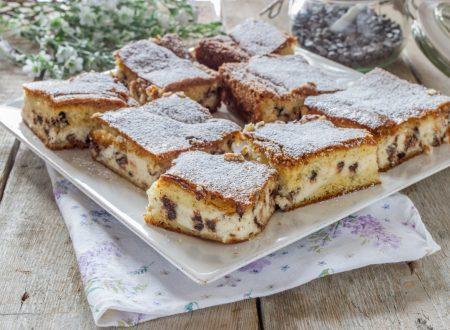 Torta con crema ricotta e cioccolato