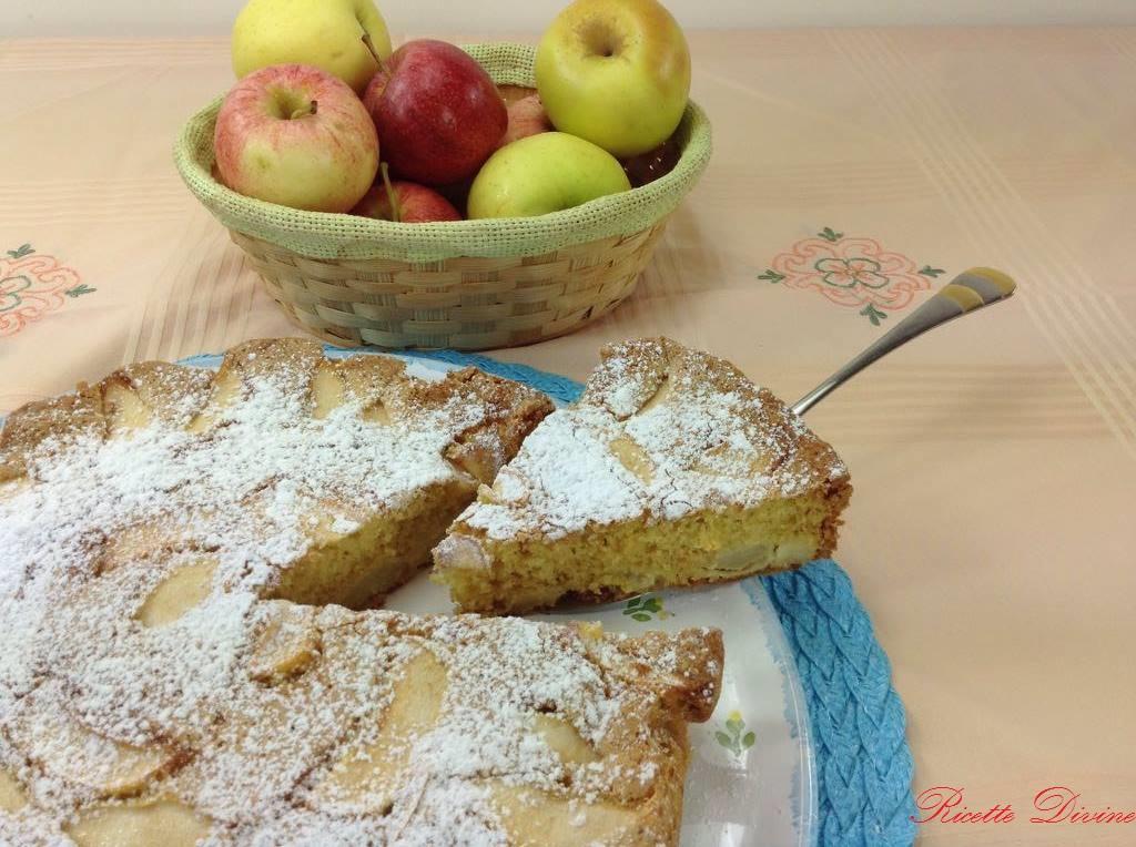 Torta di mele morbidissima (senza burro e latte) #tortadimele