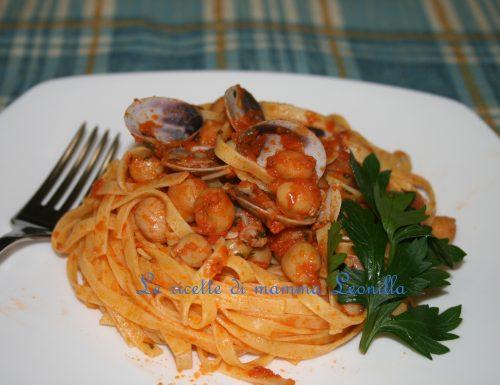 VONGOLE E CECI tagliatelle(ricetta primo pesce)