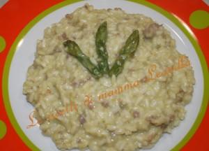 risotto crema di asparagi e salsiccia croccante(ricetta primo)