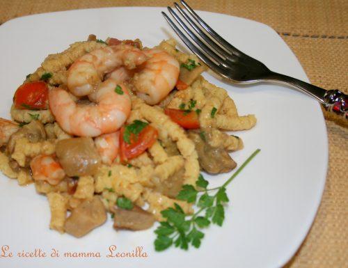 PASSATELLI FATTI IN CASA CON GAMBERI E PORCINI (ricetta primo di pesce)