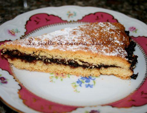 CROSTATA DOPPIA CON MARMELLATA DI MORE E MANDORLE(ricetta dolce da forno)
