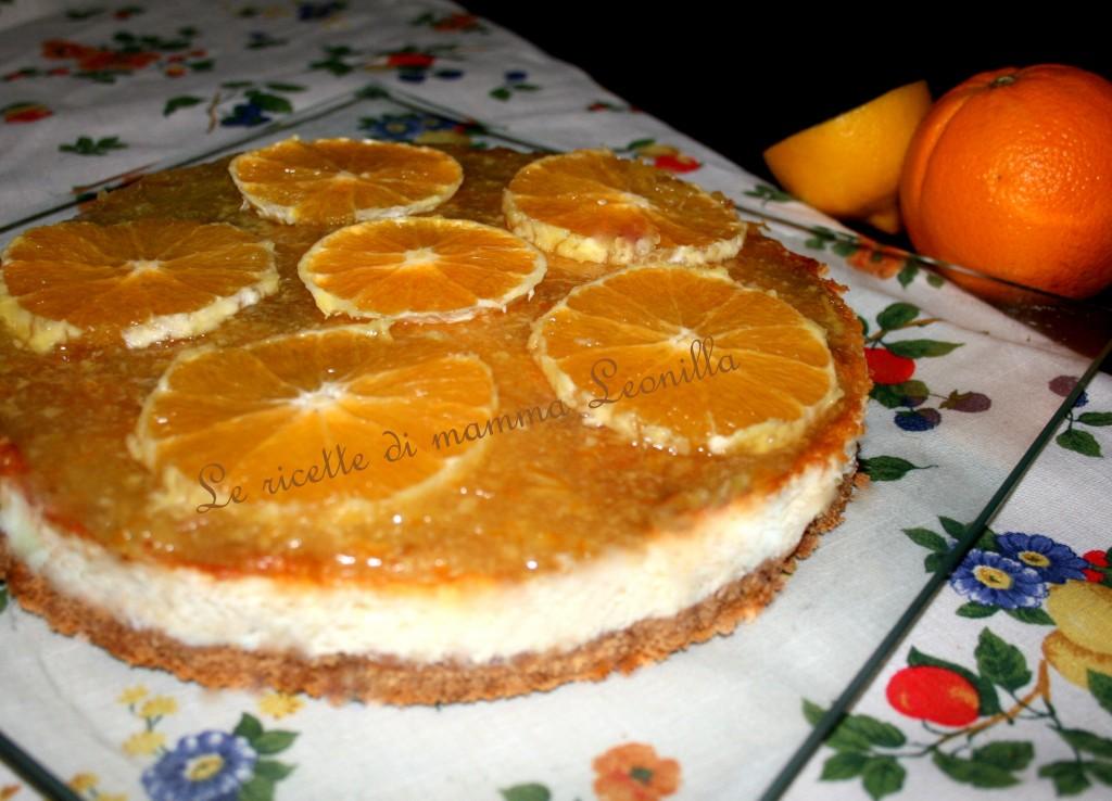 cheesecake cotta alle arance