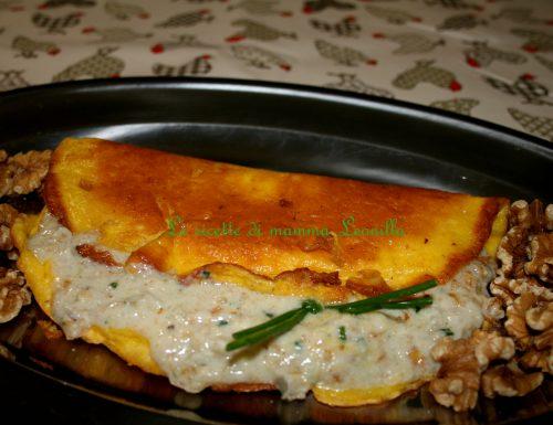 OMELETTE GORGONZOLA E NOCI (ricetta secondo uova)