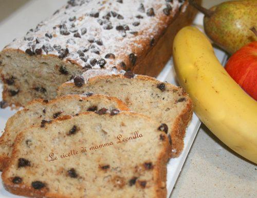 PLUMCAKE PERA MELA BANANA SOFFICISSIMO(ricetta dolce da forno)