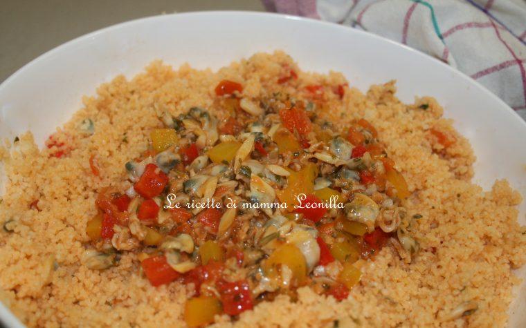 COUSCOUS VONGOLE E PEPERONI (ricetta piatto unico-pesce)