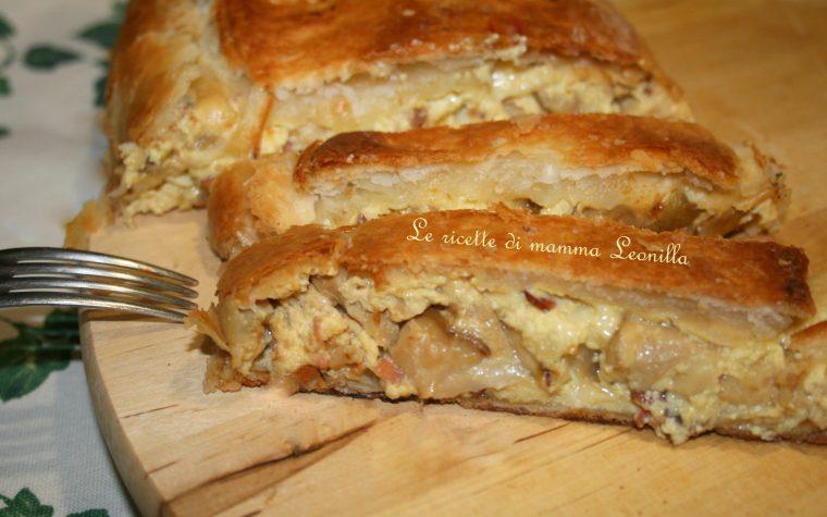 STRUDEL SALATO CON PORCINI E SPECK(ricetta salata)