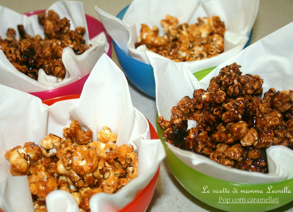 POP CORN CARAMELLATI AL CACAO (ricetta dolce)