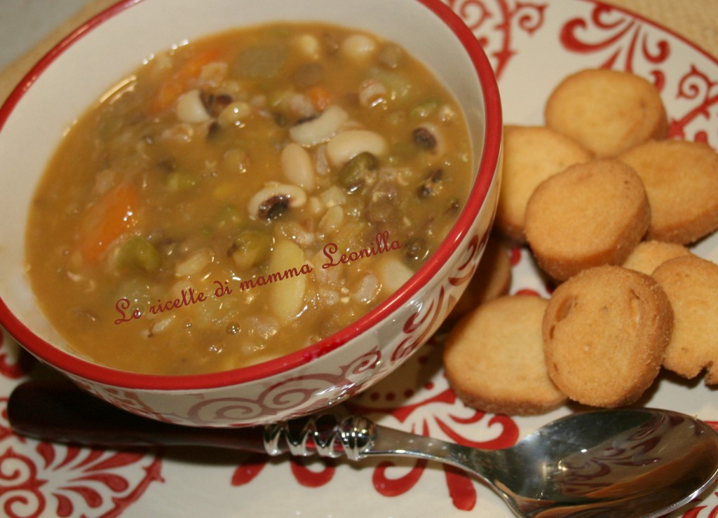 ZUPPA DI CEREALI MISTI E PATATE(ricetta zuppe)