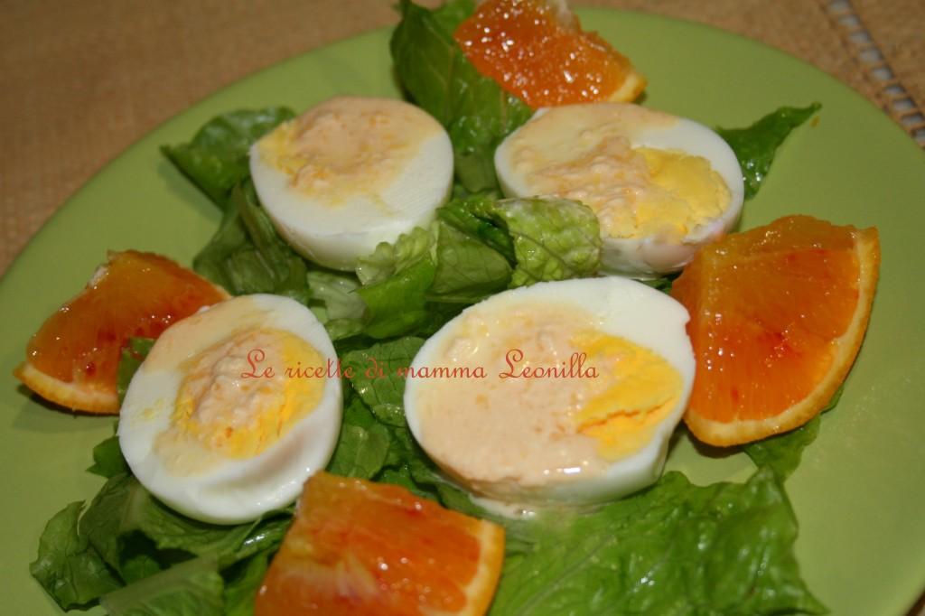 UOVA SODE IN SALSA D'ARANCIA -ricetta insalata,piatto unico