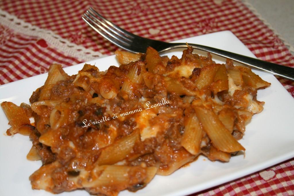 PASTA AL FORNO SALSICCIA E MELANZANE -ricetta primo