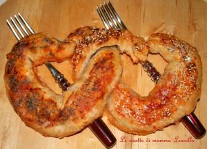 CUORI DI PIZZA INCATENATI -ricetta salata S.Valentino
