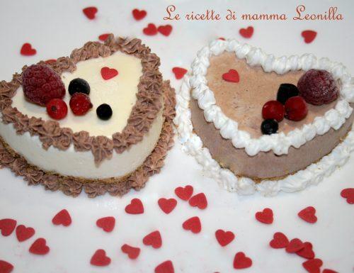 SEMIFREDDO MONOPORZIONE CIOCCOLATO E VANIGLIA -ricetta S.Valentino