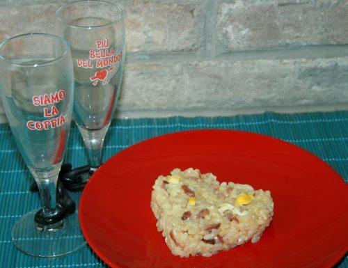 RISOTTO AL PROSCIUTTO E UOVA -ricetta primo S.Valentino