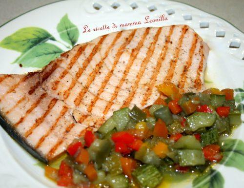 PESCE SPADA GRIGLIATO ALLE VERDURE -ricetta di pesce veloce e semplice