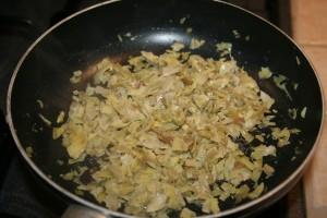CARBONARA DI CARCIOFI E CURRY -ricetta primo facile e veloce