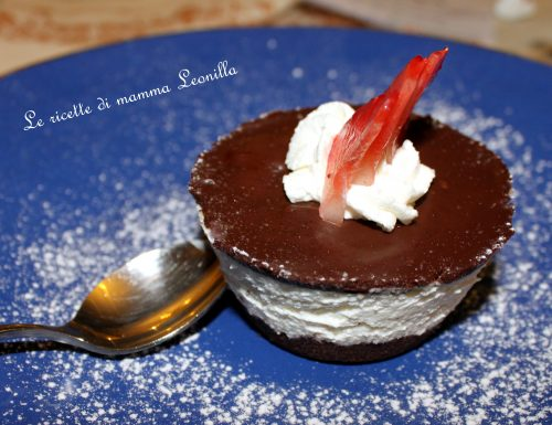 CHEESECAKE FREDDO AL CIOCCOLATO E PANDISTELLE -ricetta dolce al cucchiaio
