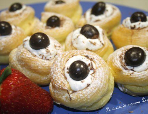 ZEPPOLE DI SAN GIUSEPPE PANNA E NUTELLA  AL FORNO -ricetta dolce festa del papà