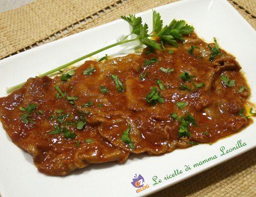 FETTINE ALLA PIZZAIOLA VELOCI -ricetta secondo di carne in padella