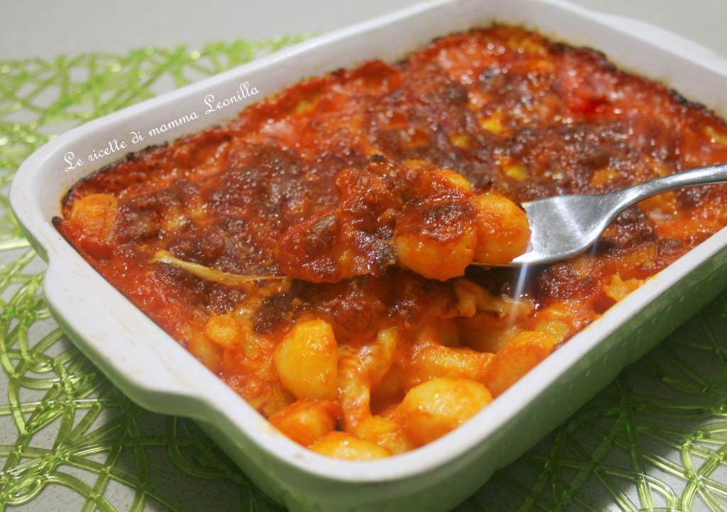 GNOCCHI GRATINATI AL POMODORO E SCAMORZA -ricetta primo al forno