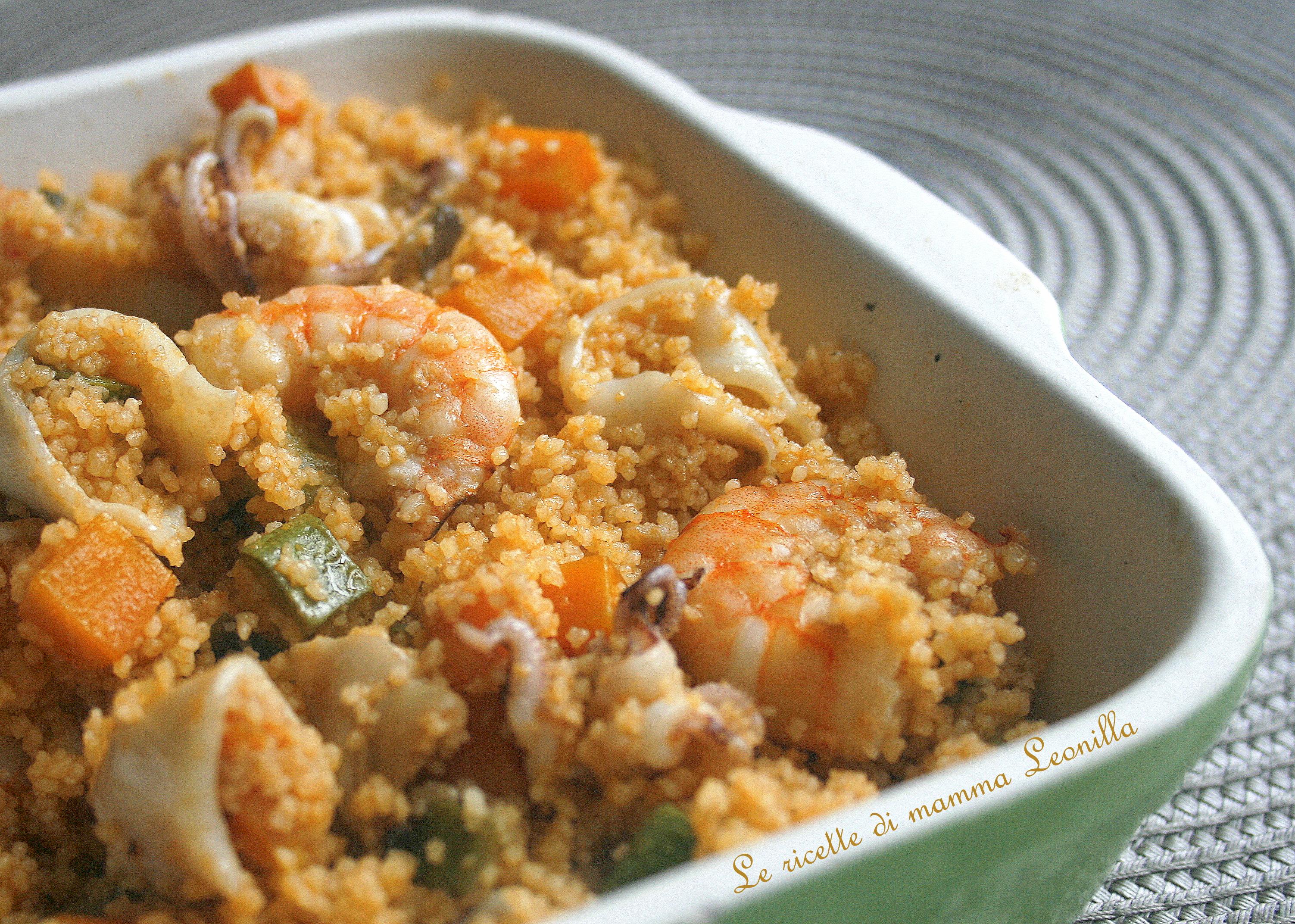 Cous cous di pesce e verdure ricetta primo piatto unico for Ricette di pesce