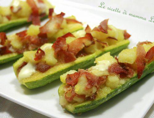 ZUCCHINE RIPIENE SPECK E PATATE -ricetta al forno