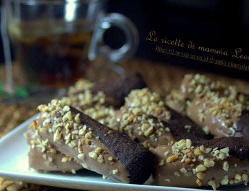 BISCOTTI SENZA UOVA AL DOPPIO CIOCCOLATO -ricetta dolce al forno