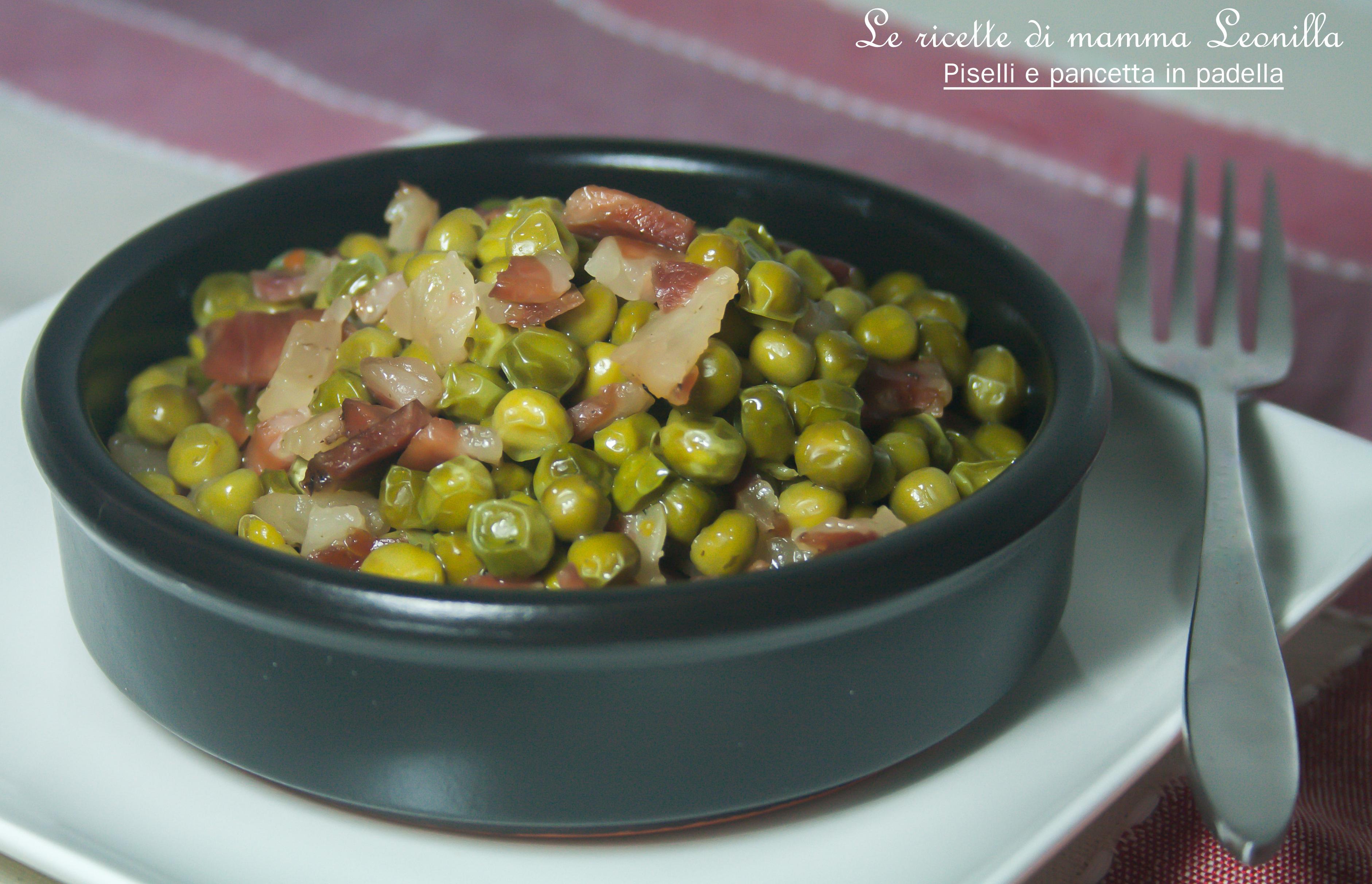 e pancetta in padella -ricetta contorno caldo - Come Cucinare I Porri In Padella