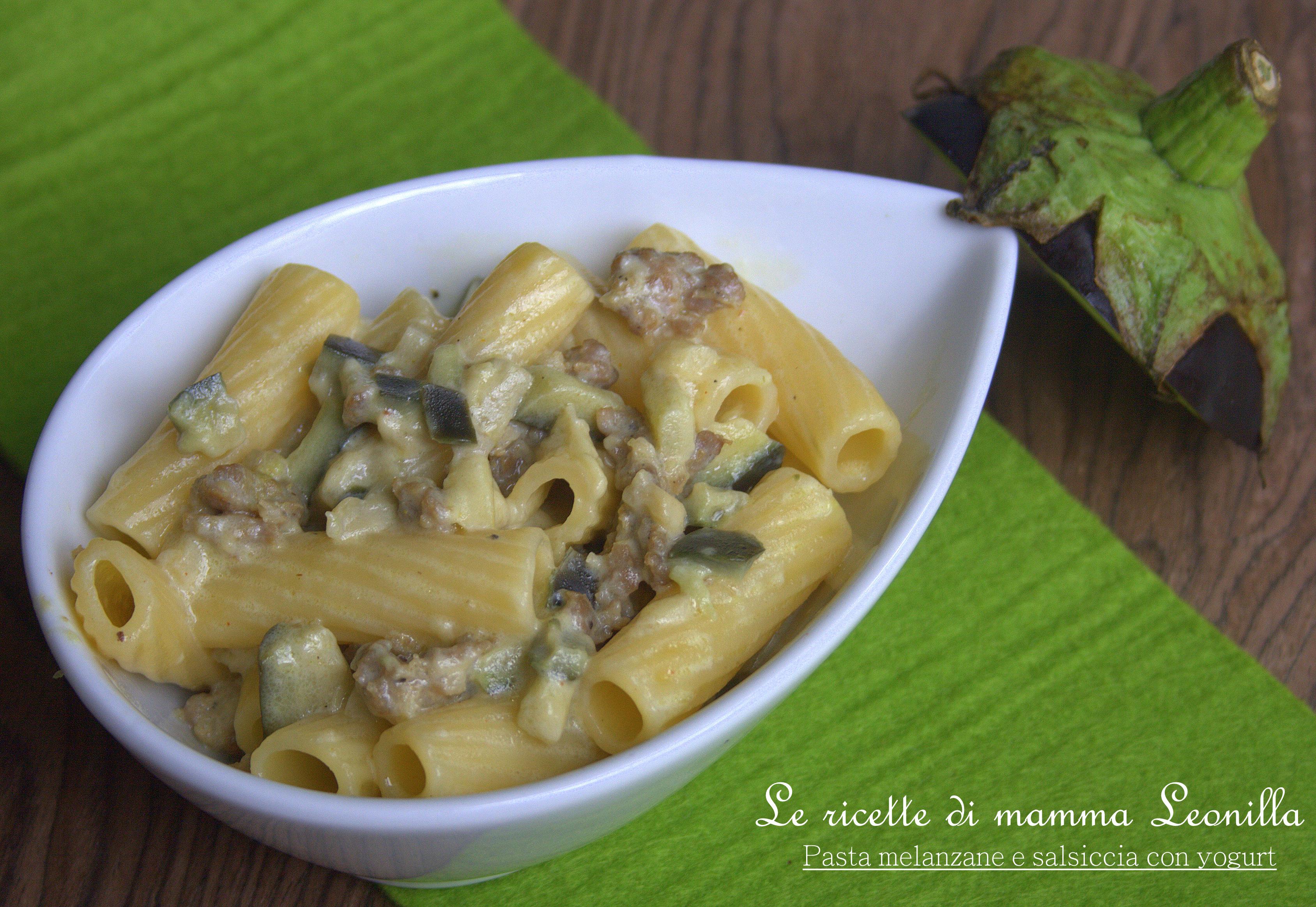 Ricetta semplice pasta e melanzane