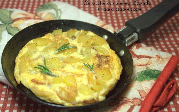 FRITTATA DI PATATE E CIPOLLE -ricetta secondo di uova