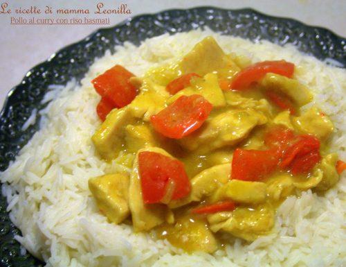 POLLO AL CURRY CON RISO BASMATI -ricetta piatto unico