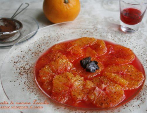 ARANCE SCIROPPATE AL CACAO -ricetta frutta per le feste
