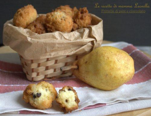 FRITTELLE DI PERE E CIOCCOLATO -ricetta fritto di carnevale