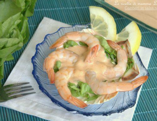 GAMBERI IN SALSA ROSA -ricetta antipasto di pesce facile