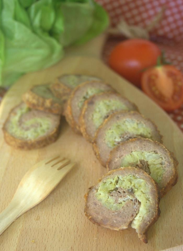 polpettone ripieno di verza e prosciutto ricetta secondo al forno