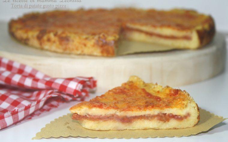 TORTA DI PATATE GUSTO PIZZA -ricetta al forno