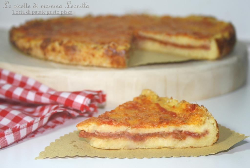 Torta di patate gusto pizza ricetta al forno le ricette - Forno ventilato per torte ...