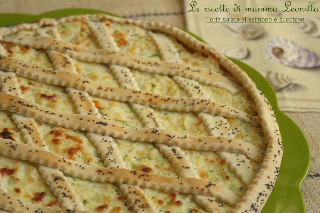 TORTA SALATA AL SALMONE E ZUCCHINE -ricetta buffet