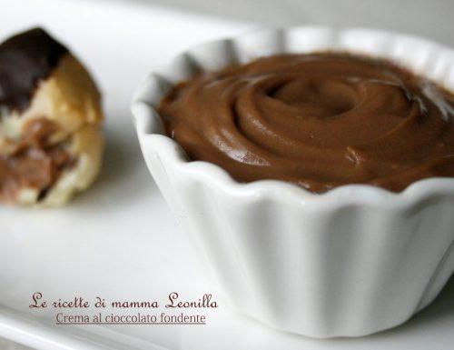 CREMA AL CIOCCOLATO FONDENTE -ricetta base dolce