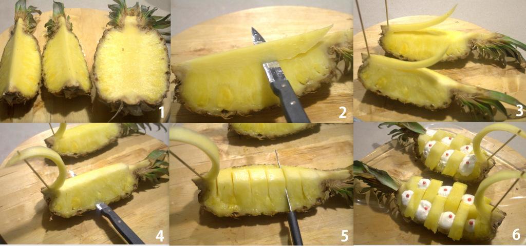 Come Servire L Ananas A Tavola.Conserve Di Zucchine Tagliare L Ananas