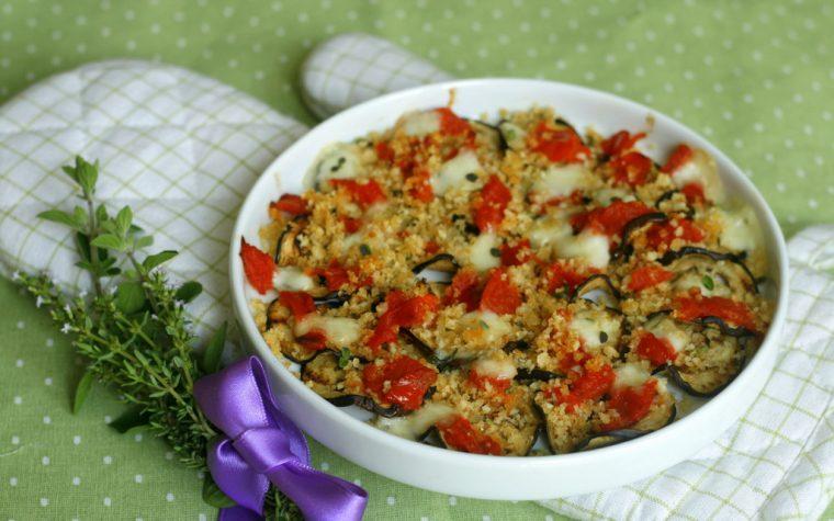 MELANZANE GRATINATE SAPORITE con pomodoro e mozzarella
