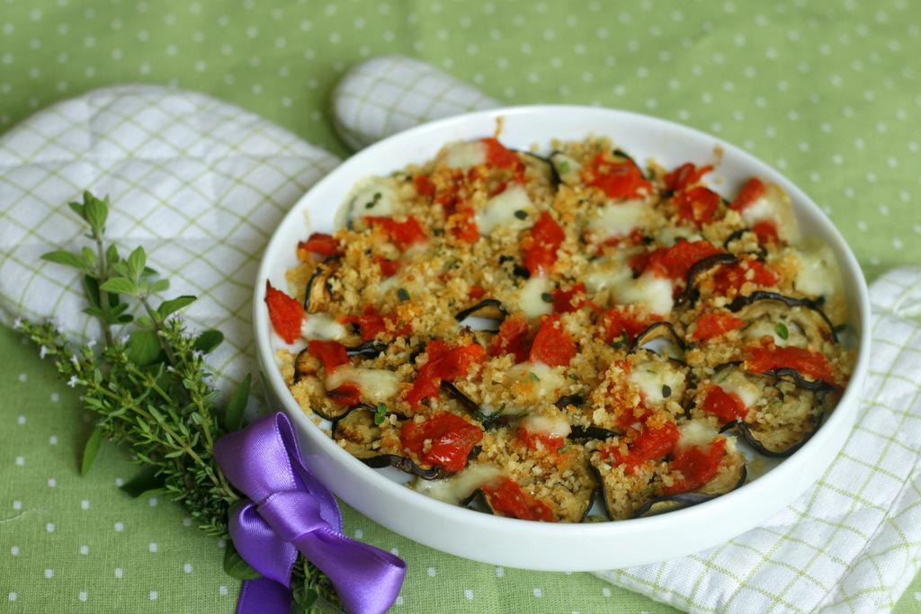 MELANZANE GRATINATE SAPORITE con pomodoro e mozzarella.45