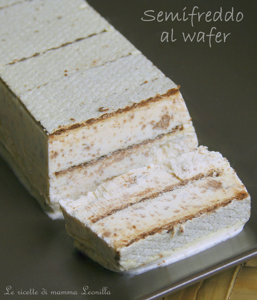 SEMIFREDDO AL WAFER ,torta gelato facile