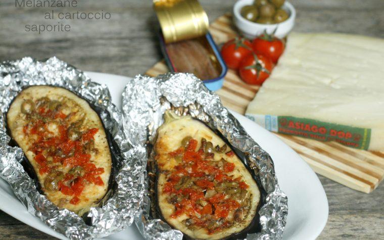 MELANZANE AL CARTOCCIO SAPORITE, ricetta al forno