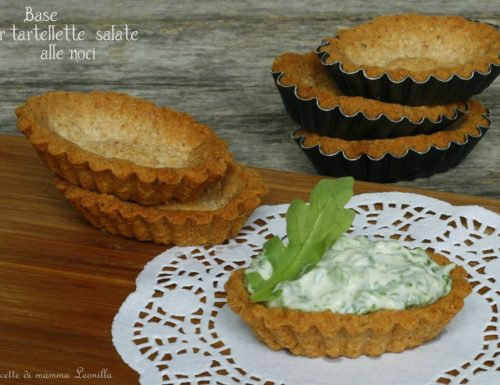 BASE PER TARTELLETTE SALATE ALLE NOCI