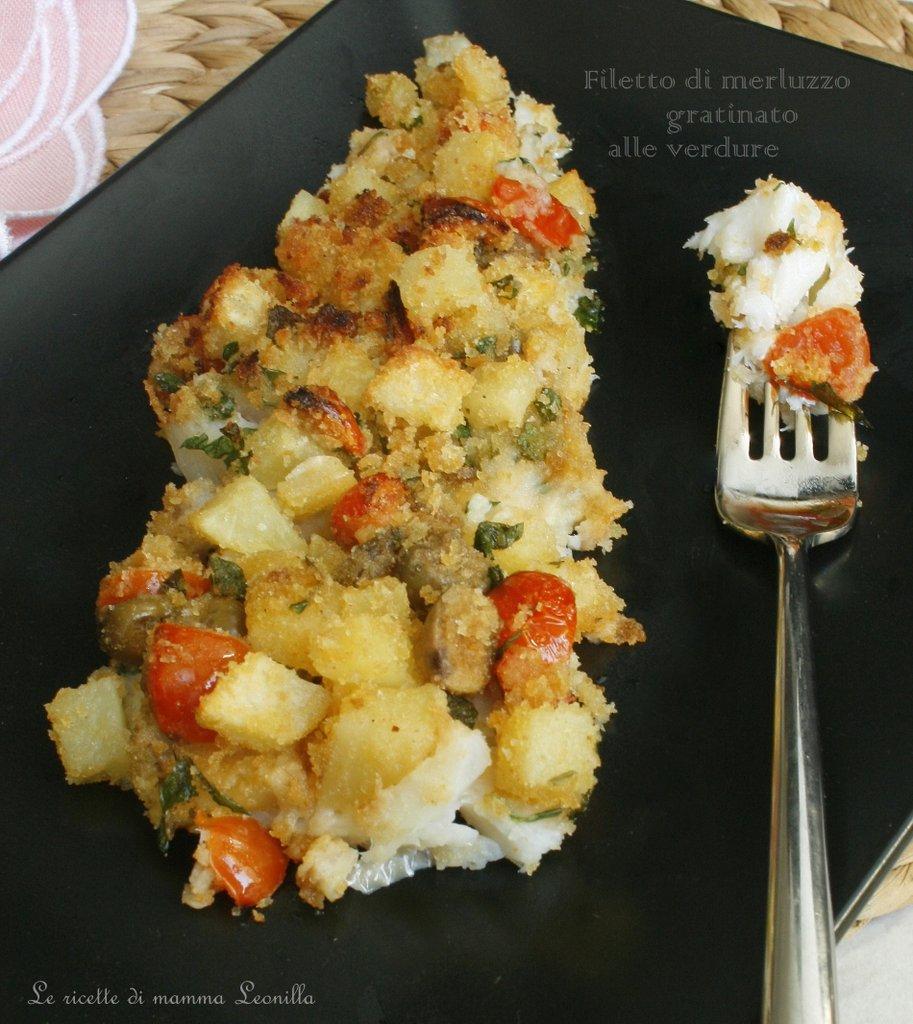 di merluzzo gratinato alle verdure - Filetti Di Merluzzo Surgelati Come Cucinarli