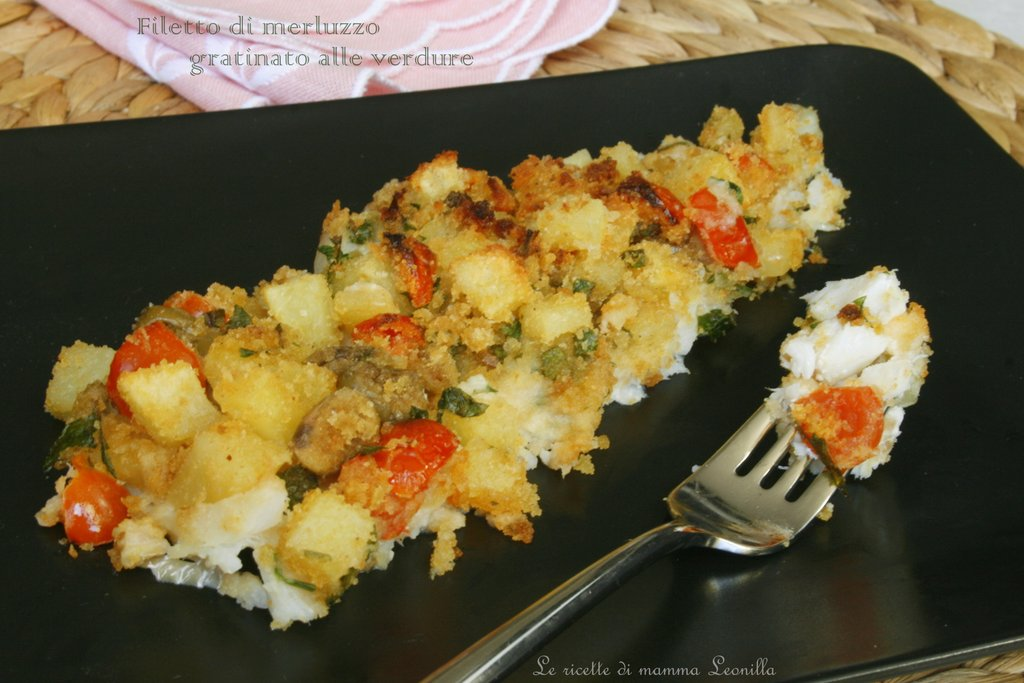 filetto di merluzzo gratinato alle verdure - Cucinare Filetto Di Merluzzo
