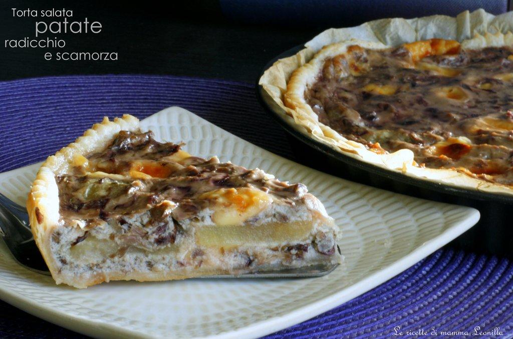 TORTA SALATA PATATE RADICCHIO E SCAMORZA