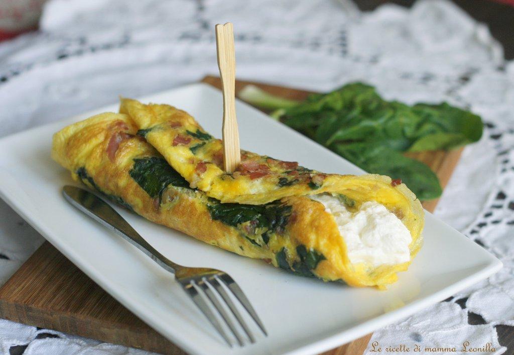 Ricetta Omelette Ricotta E Spinaci.Frittata Di Spinaci E Prosciutto Alla Crema Di Ricotta