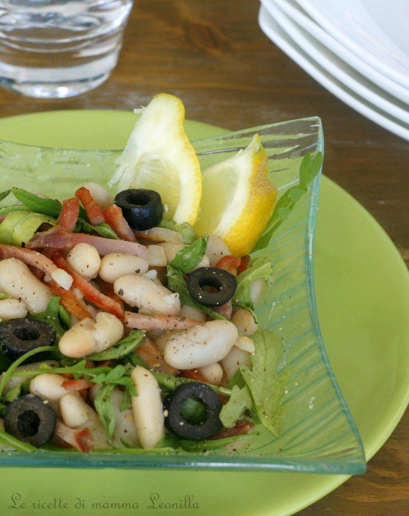 INSALATA DI CANNELLINI E SPECK CROCCANTE, ricetta piatto freddo